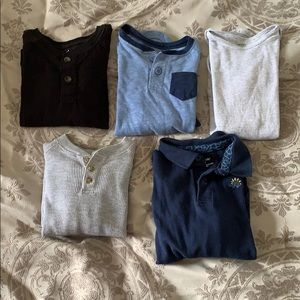 Lot of 5 Long Sleeve Boy Shirts 18-24 mo 2T bundle